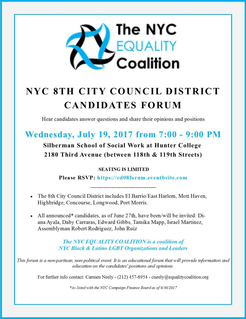 NYC CD08 Cand Forum 7.19